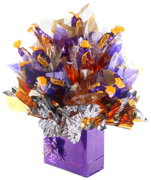 Carameliscious chocolate bouquet gifts from candy