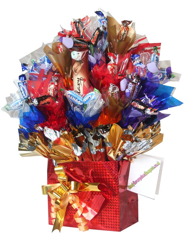Time to celebrate a candy bouquet gift