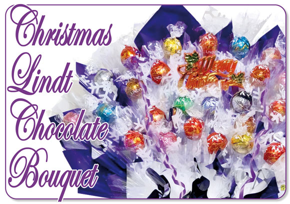 Christmas Lindt Chocolate Bouquet : A Candy Bouquet Gift