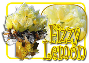 Fizzy Lemon Sherbert Sweeties Candy Bouquet
