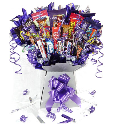 Chocolate Bouquets and Sweetie Bouquets from Candy Scrumptious Bouquets, UK