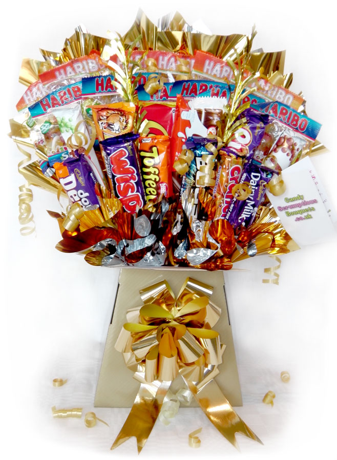 Haribo & Choc Selection, Gold box, Gold trim