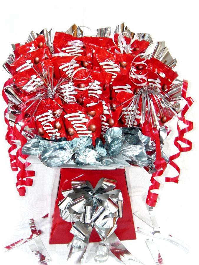 Malteser Monster Bouquet, Red box, Silver trim