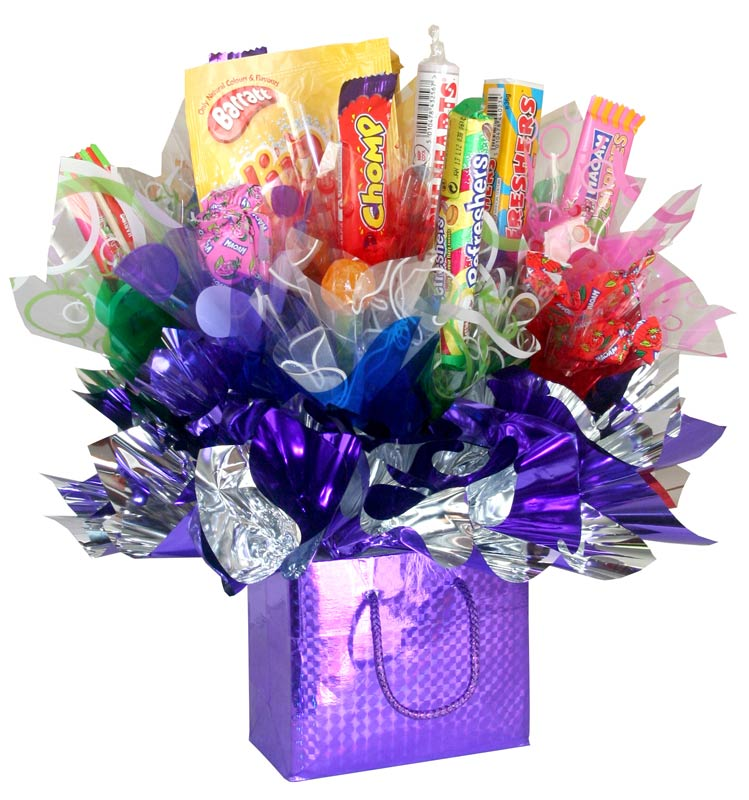 Lets go retro a candy bouquet gift