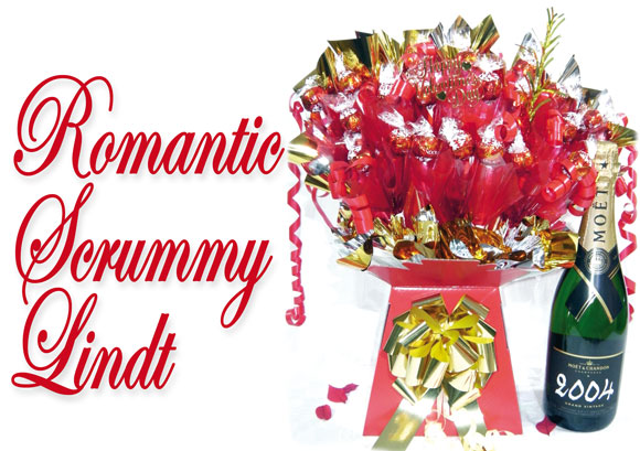 Romantic Scrummy Lindt Valentines Chocolate Bouquet : A Candy ...